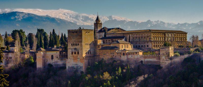 Moorish Alhambra castle