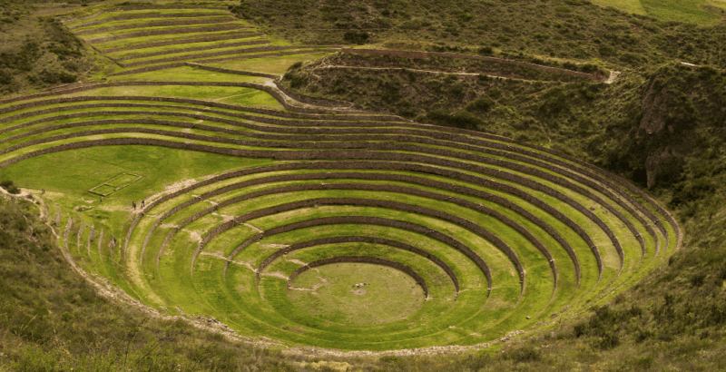 Terraces in a circle, seen on my Inca Trail hike