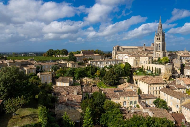 Rooftops of Saint Emilion in Champagne, France