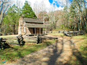 1800s log home in Cades Cove, Great Smoky Mountains National Park