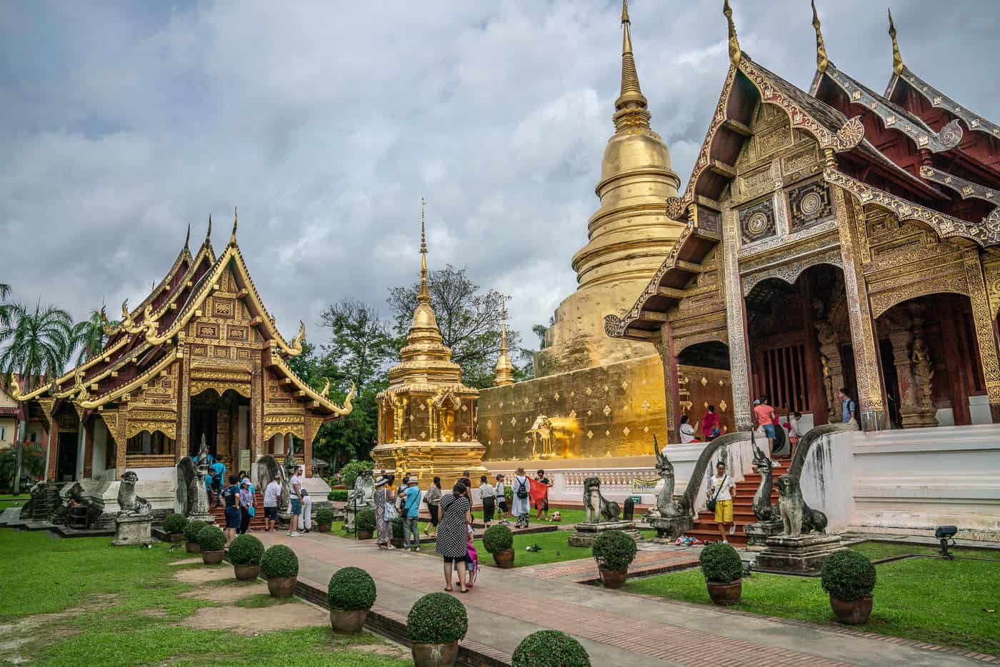 Wat Phra Singh temple chiang mai old town