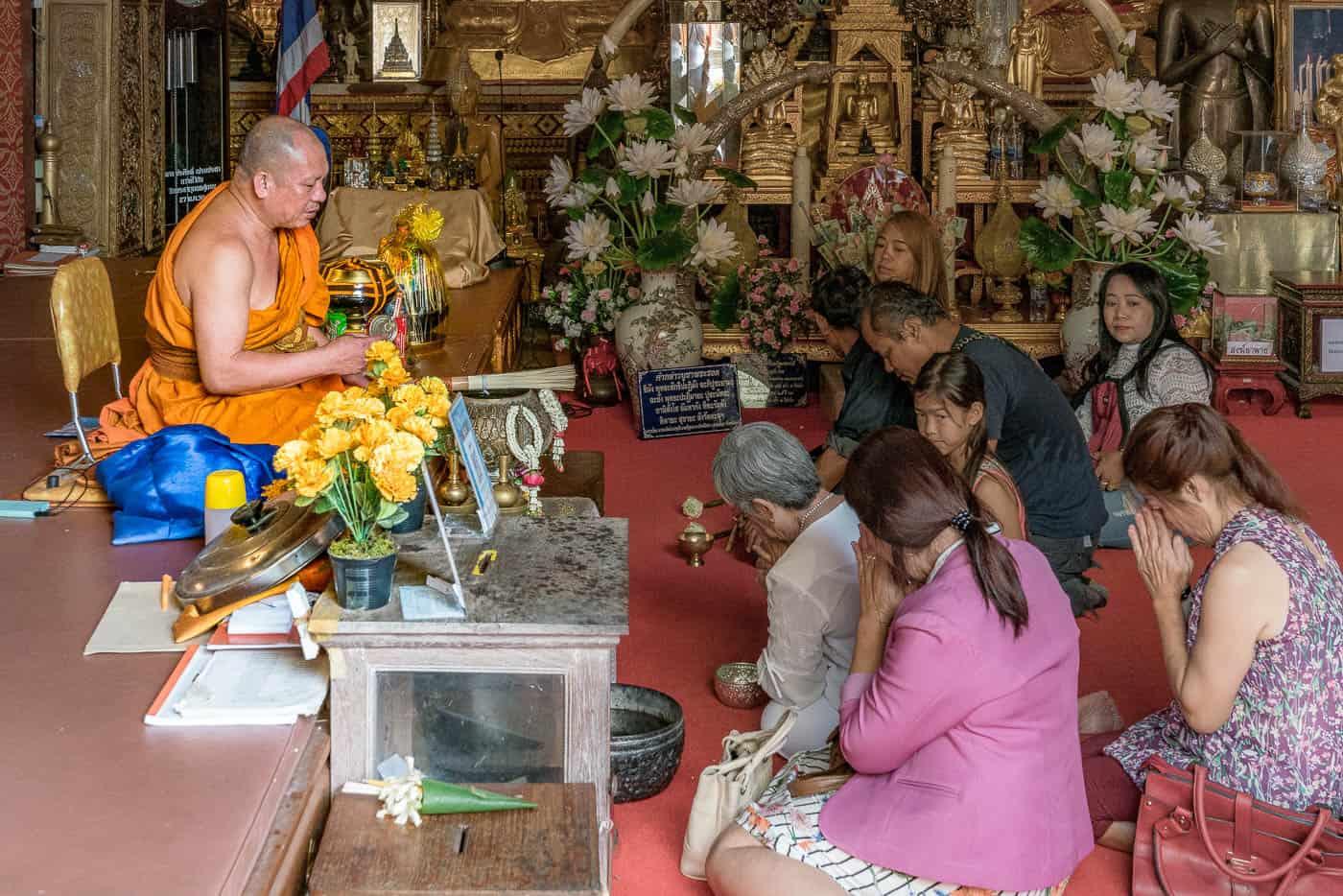 doi suthep monk chat blessing