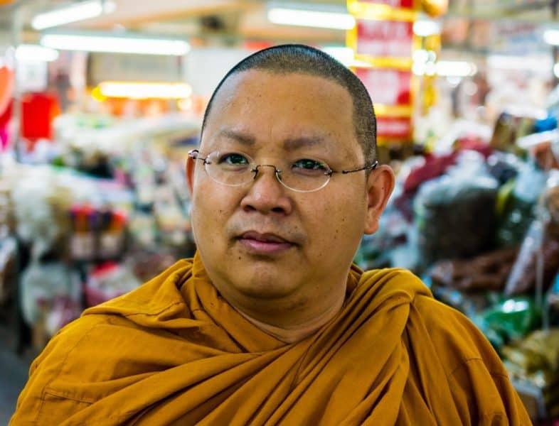 Closeup of Buddhist monk