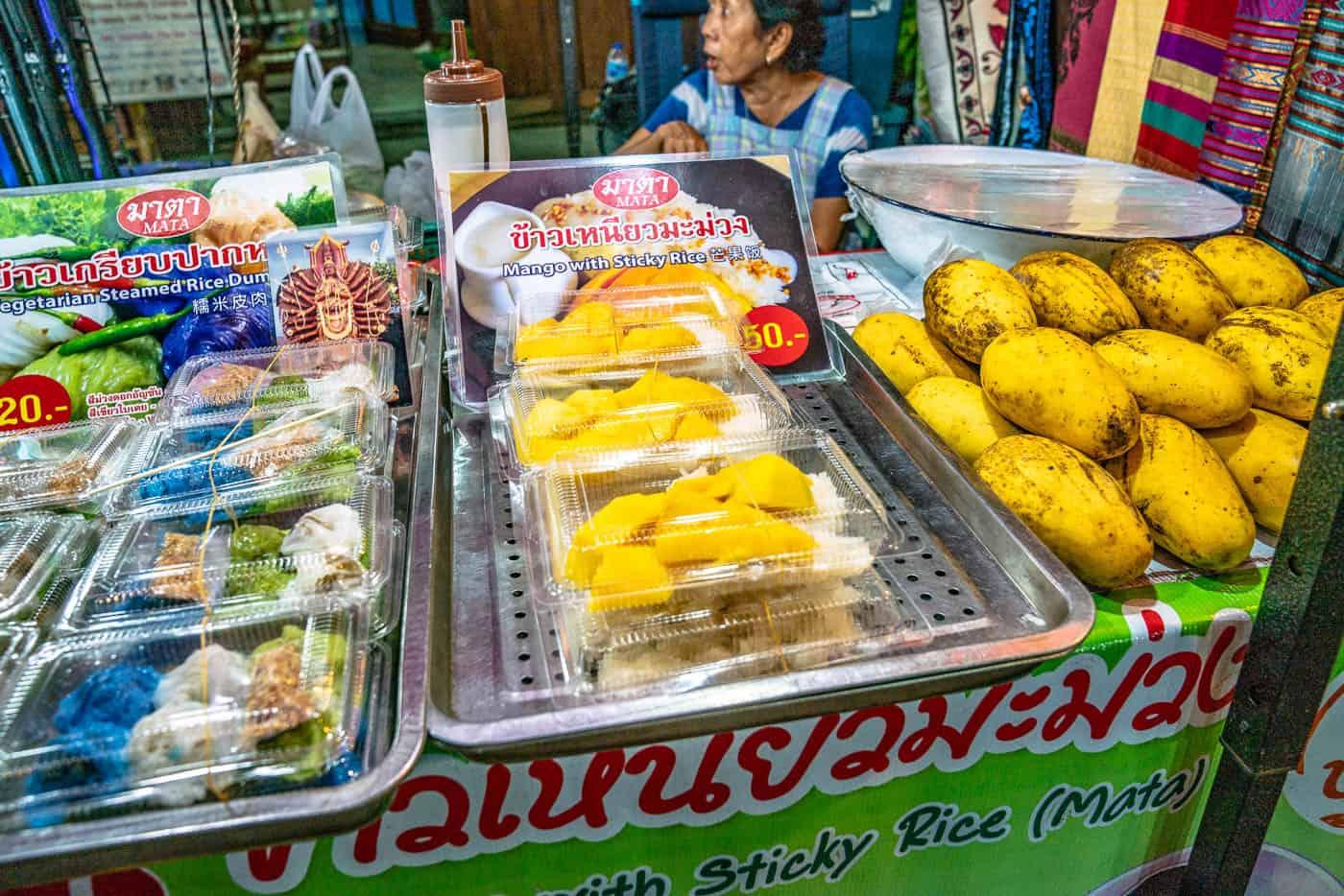 Saturday Walking Street mango with sticky rice