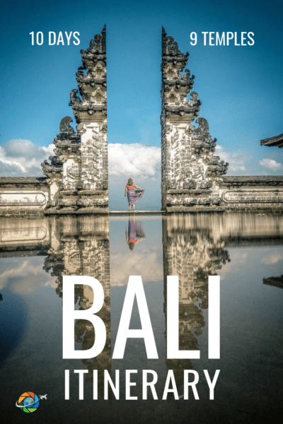 Use this 10-day itinerary to see Bali's best temples - Tanah Lot, Ulluwatu, and more - and still have time to shop, explore the island, and relax on the beach. Click for the complete 10 day Bali Itinerary, along with travel tips. #bali #temples #travel #itinerary