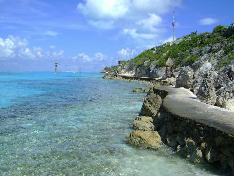 one of the best things to do in cozumel is visit the Water and hill at Punta Sur Eco Park in Cozumel