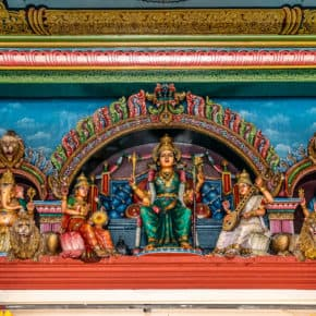 female goddesses at sri mariammam temple