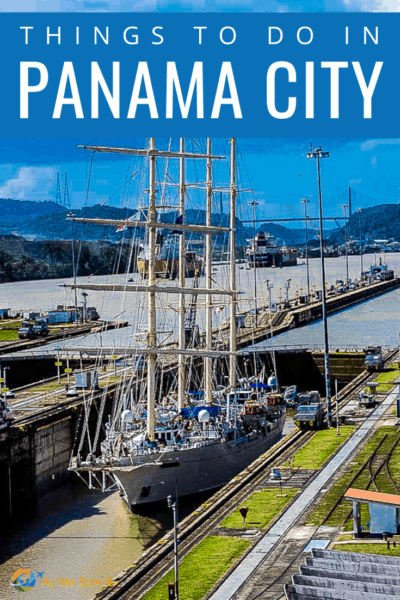 windjammer cruise boat passing through the panama canal text says things to do in panama city