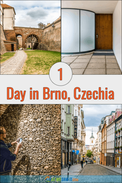 collage of four images from Brno. Text overlay says 1 Day in Brno, Czechia