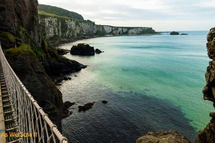 Northern Ireland cliffs seen from Rope Bridge