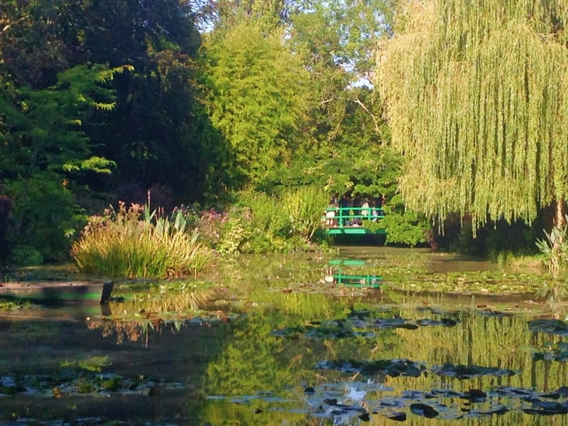 Pond and bridge at Monet's garden in Giverny