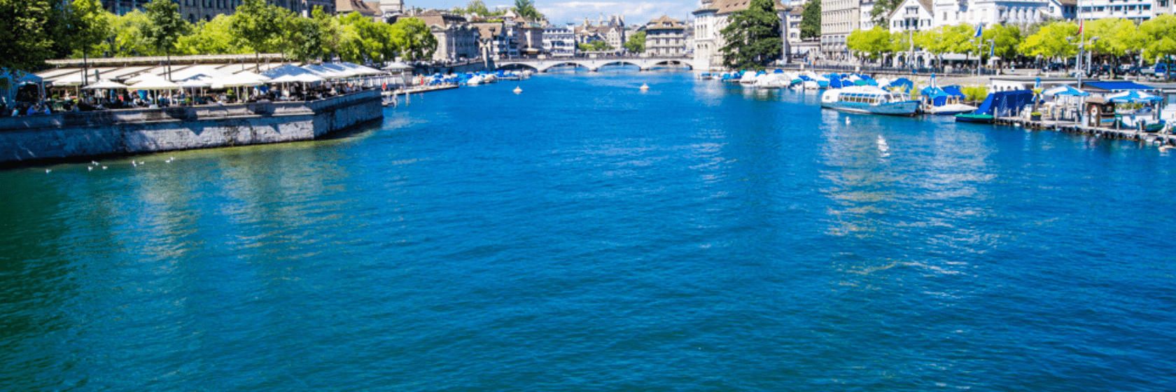 zurich as seen from the river