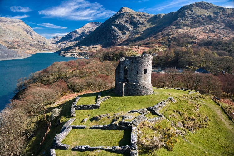 overview of dolbadarn castle in wales