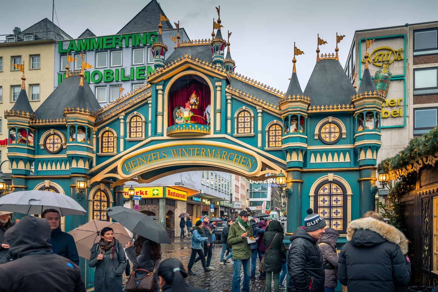 Entrance gate to cologne's christmas market