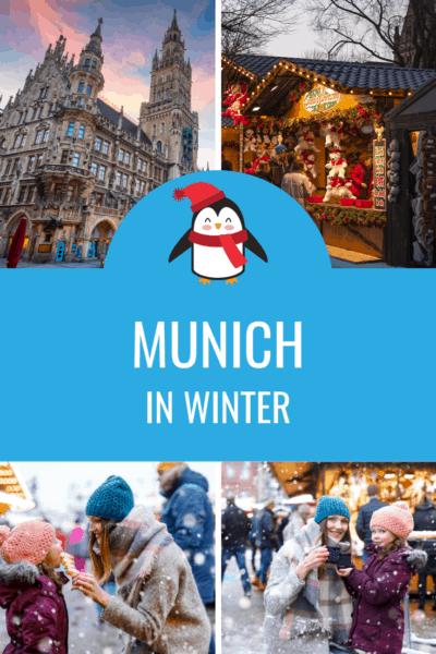 collage of munich in winter