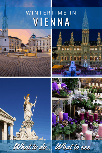 collage of wintertime in vienna text says wintertime in vienna