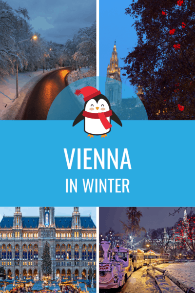 collage of vienna in winter text says vienna in winter