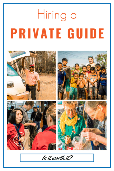 Collage of guides and tourists text reads hiring a private guide is it worth it?