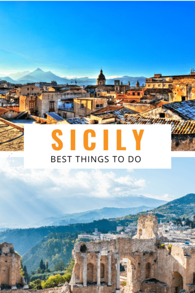 collage of sicily text says sicily best things to do in