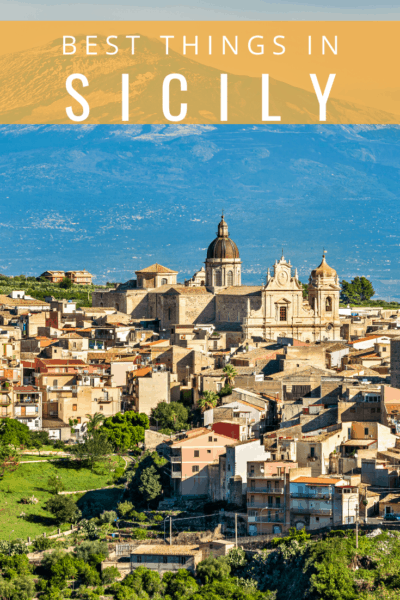 collage of sicily text says the best things to do in sicily