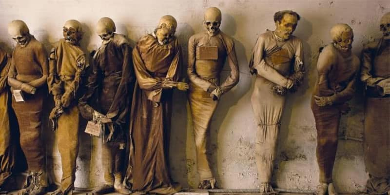 statues found in the catacombs of capuchin