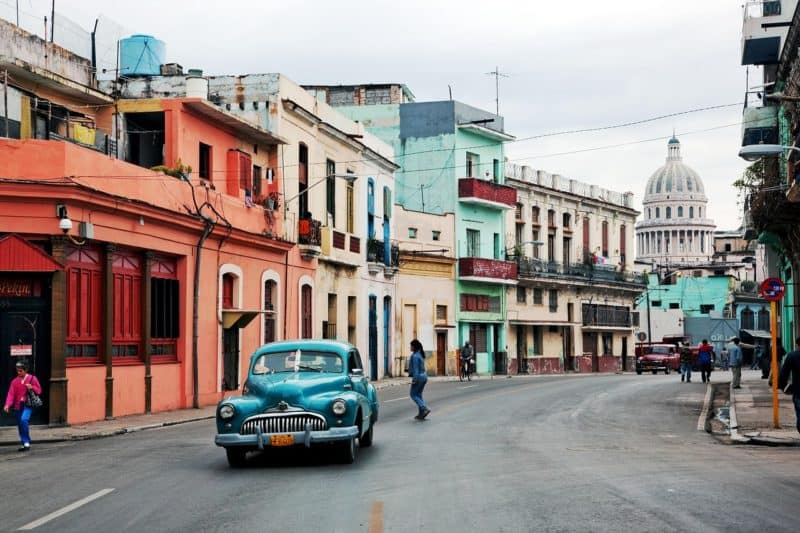1940s vintage car on the streets of havanna