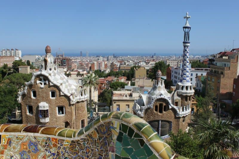 view of gaudi building in barcelona