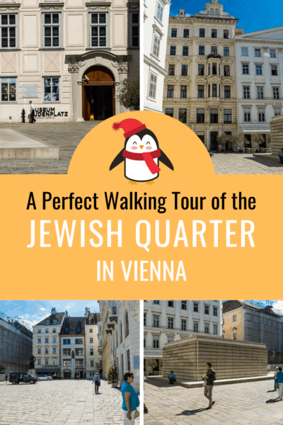 collage text says a perfect tour of the jewish quarter in vienna