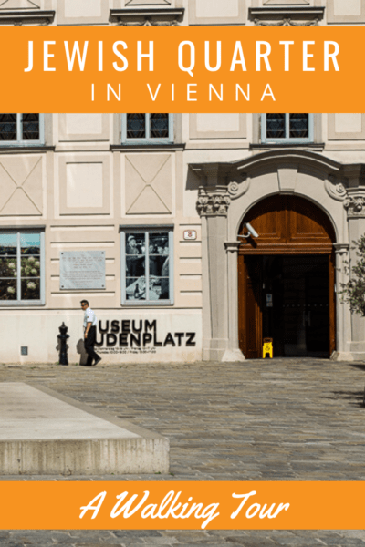 museum Judenplatz in vienna text says jewish quarter in vienna a walking tour