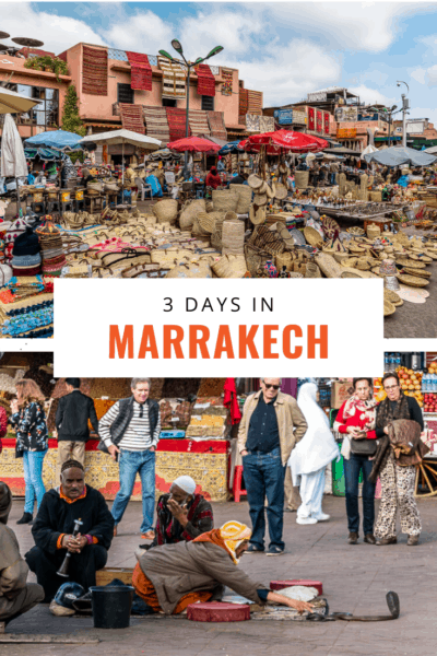 marrakech markets text says 3 days in marrakech