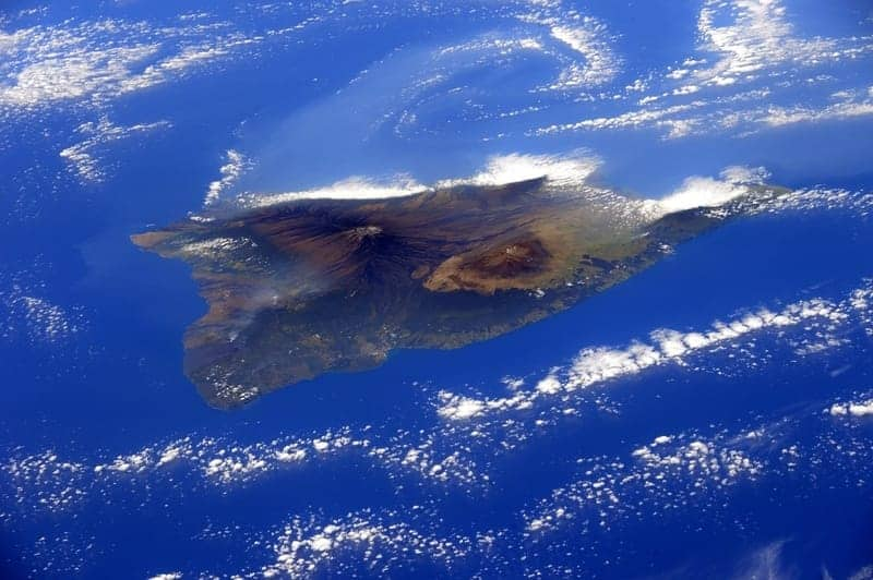 An aerial view of the island of Oahu Hawaii