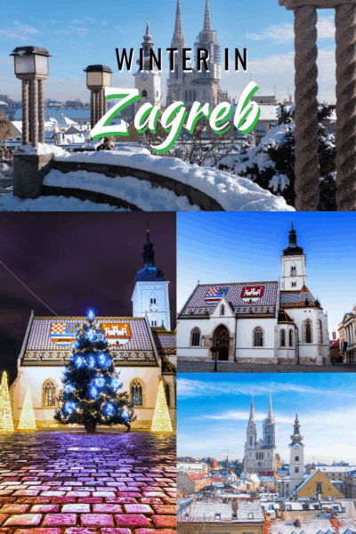 Collage of zagreb text says winter in zagreb