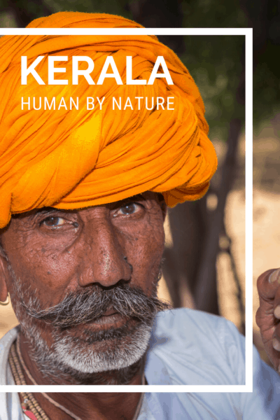 indian man in orange turban text says kerala human by nature