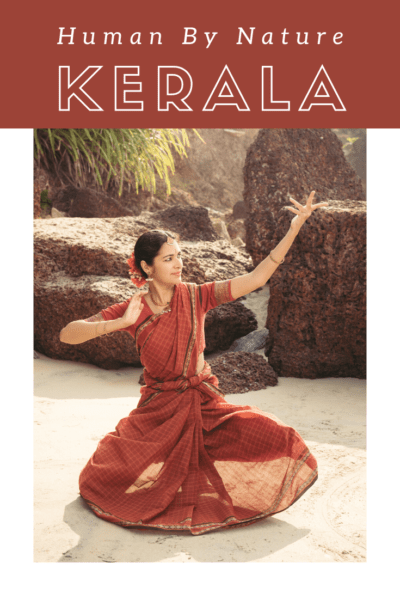 Indian woman dancing text says human by nature kerala
