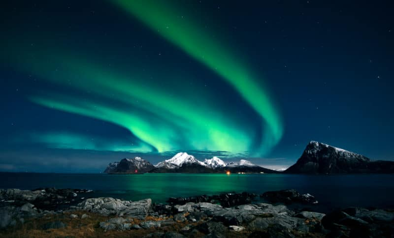 northern lights on Alaskan cruise
