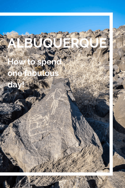 Petroglyph of dinosaur text says albuquerque how to spend one fabulous day