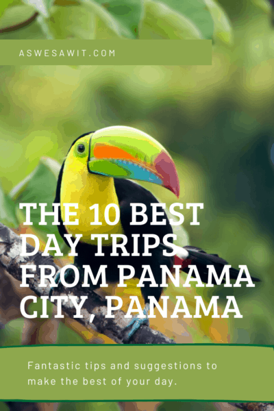 colorful toucan text says the 10 best day trips from panama city panama