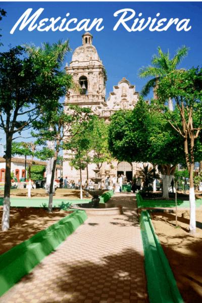 mazatlan cathedral text says mexican riviera