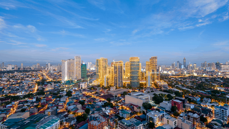beautiful cityscape of manila, one of the top Philippines destinations