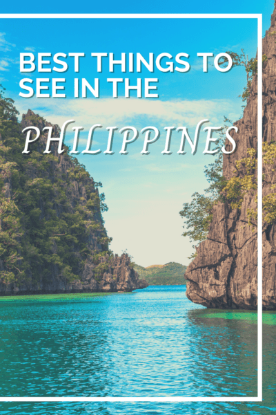 mountainous lagoon text says best things to see in the philippines