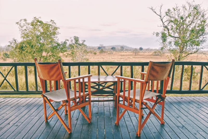 honeymoon cottage porch on the savanna
