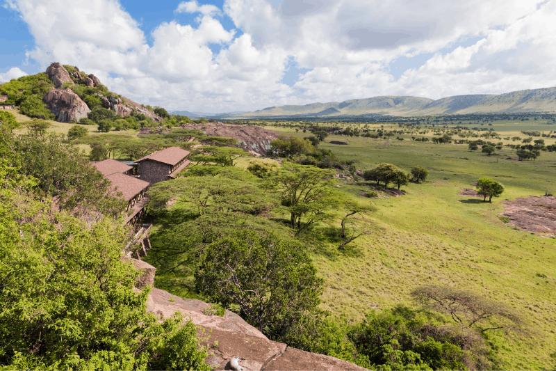 luxury hotel on the Serengeti plains
