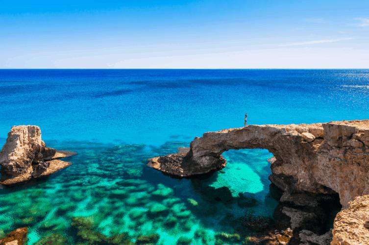 Cyprus Road Trip and a natural arch at Ayia Napa beach