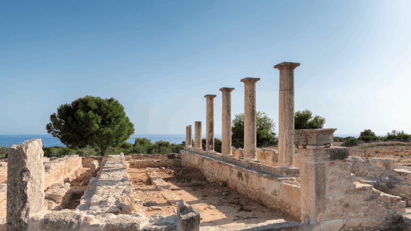 All Cyprus road trips need to include historical sites. Here are columns and ruins in Kourion
