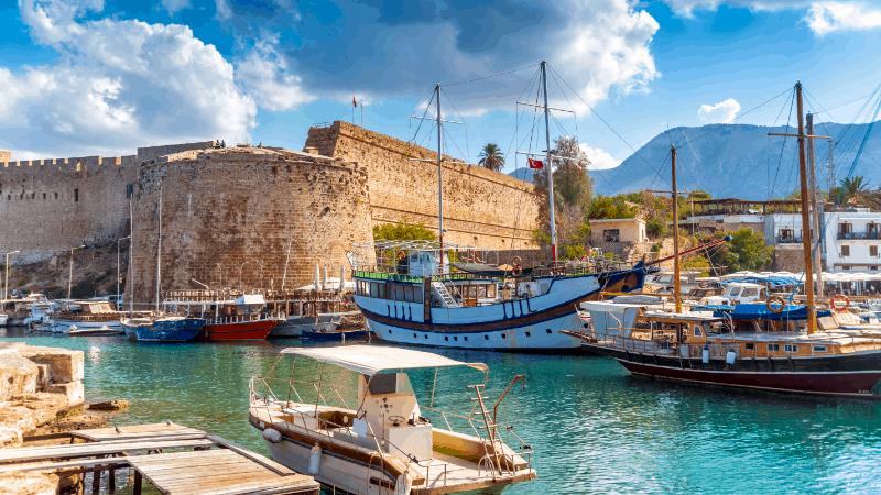 Boats in Kyrenia harbor