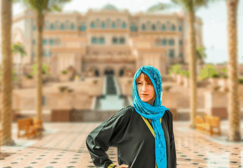 woman wearing head scarf in UAE