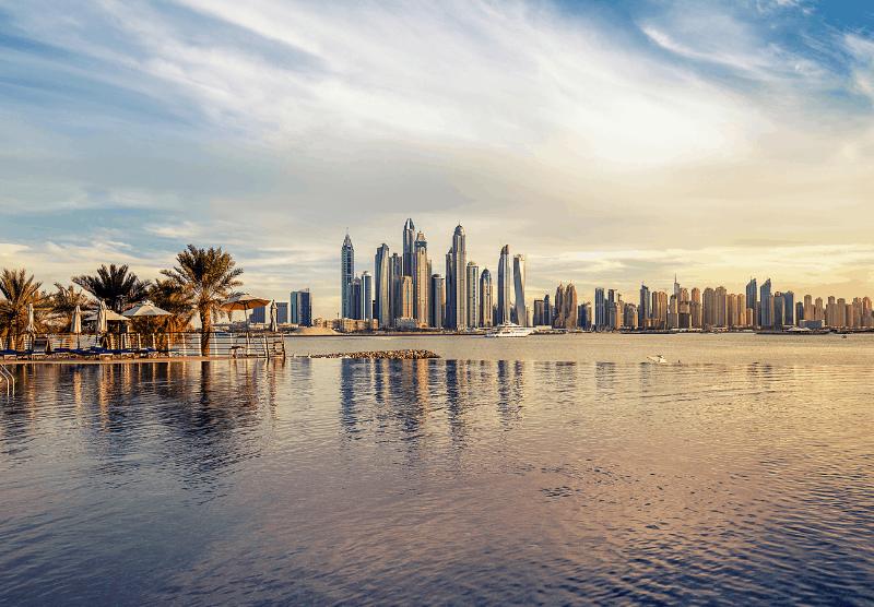 skyline in UAE