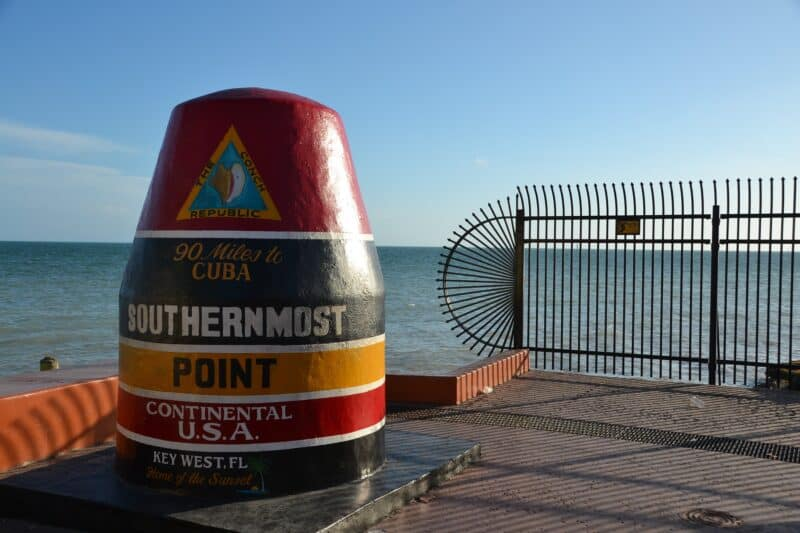 Southernmost Point Monument at the tip of Key West