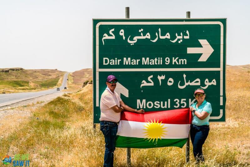 Dan & Linda near Mosul in Kurdistan, Iraq