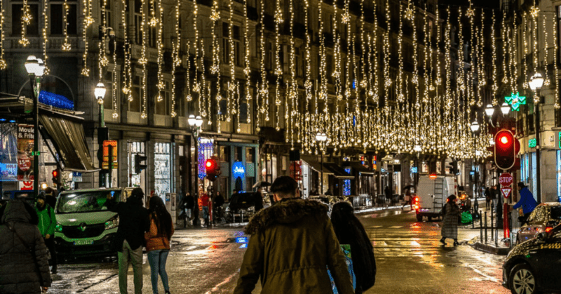 street in europe in december